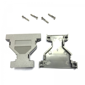 DB25-DB9 GENDER CHANGER ENCLOSURE KIT GREY PLASTIC