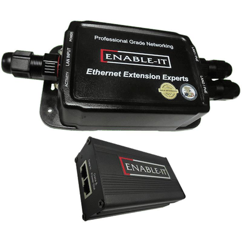 Enable-IT 828WP Outdoor IP68 Rated Waterproof Gigabit PoE Extender