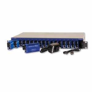 18-Slot Ethernet-based Modular Media Converter Chassis