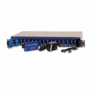 18-Slot Ethernet-based Modular Media Converter Chassis