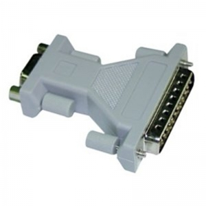 DB25 Male To DB9 Male Null Modem Adapter