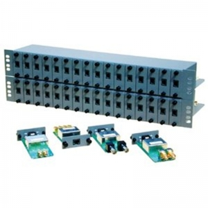 16 Slot 19 Rack Housing With Rear Cable Bar. 1.5U High