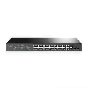 24-Port 10/100Mbps + 4-Port Gigabit Smart PoE+ Switch