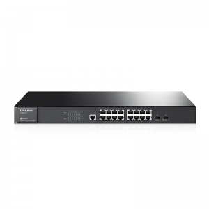 JetStream 16-Port Gigabit L2 Managed Switch with 2 Combo SFP Slots